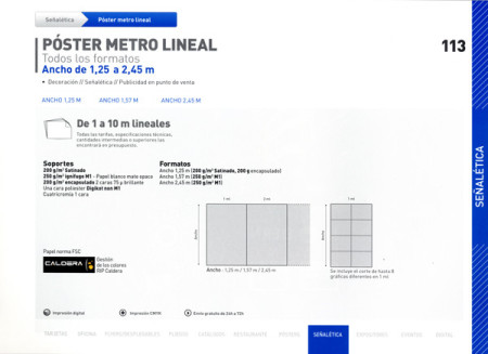 Póster metro lineal